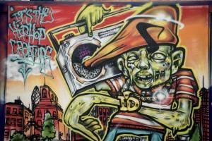 Graffiti, StreetFest, Shoreditch, London, UK, 05/05/2013