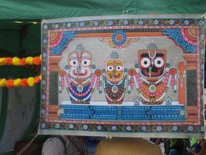 The three deities Jagannath, Baladeva and Subhadra